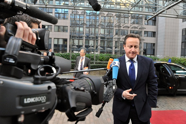David Cameron speaking to the press yesterday. Image: Getty.