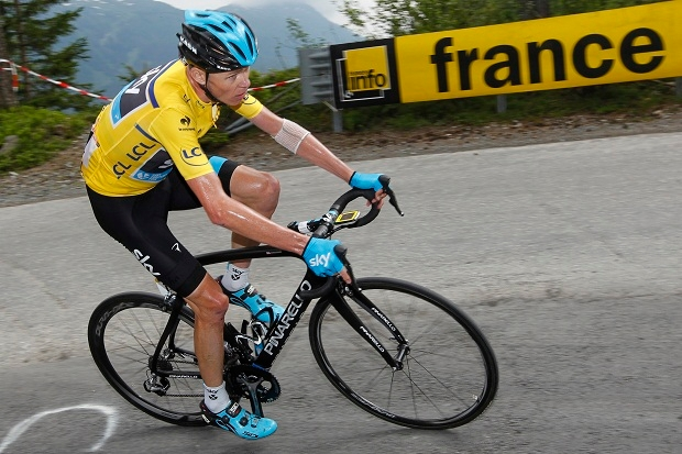 Chris Froome in action. (Photo by Kristof Van Accom/Getty Images)