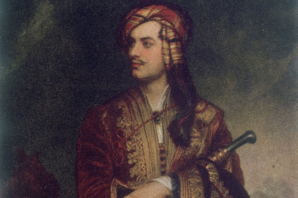 English Romantic poet George Gordon Byron in Albanian dress, painted by Thomas Phillips circa 1815. Image: Getty
