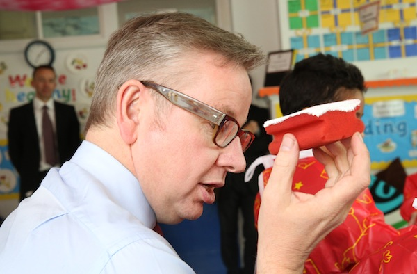 Michael Gove on a school visit. Picture: Getty