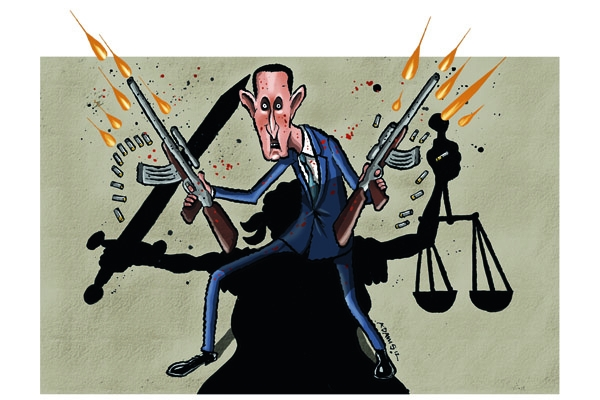 The Spectator's cover - 25 August 2012. Illustration: Adams.