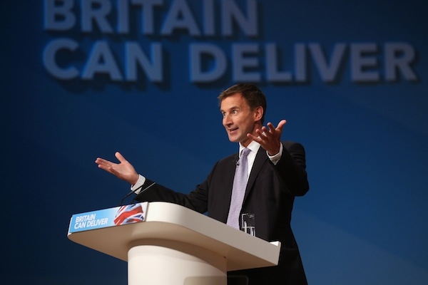 Jeremy Hunt is clearly setting himself up as a patients' champion. Picture: Getty