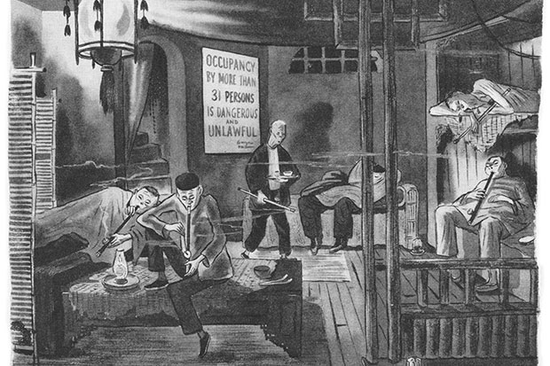 Charles Addams's 'Opium Den', from the New Yorker, 12 September 1944