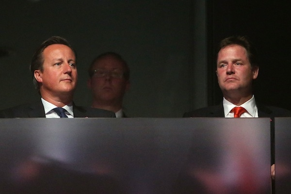 Nick Clegg risked inflaming tensions in the coalition over gay marriage today when a draft of a speech containing the word 'bigot' was released to the press. Picture: Getty.