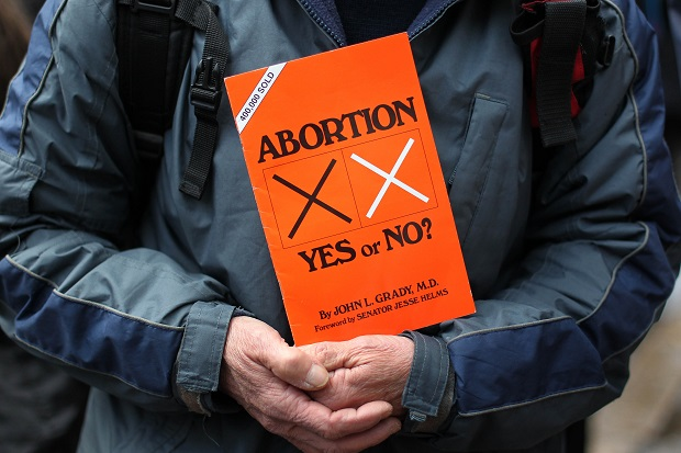 Our abortion laws are wholly absurd. (PETER MUHLY/AFP/Getty Images)