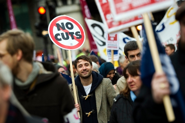 A new survey shows a drop in support for spending cuts. Picture: Getty Images