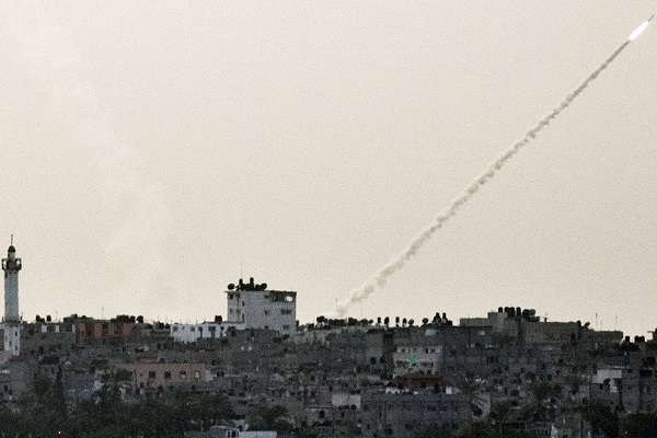 Another rocket attack on Israel is launched from Gaza. (JACK GUEZ/AFP/Getty Images)