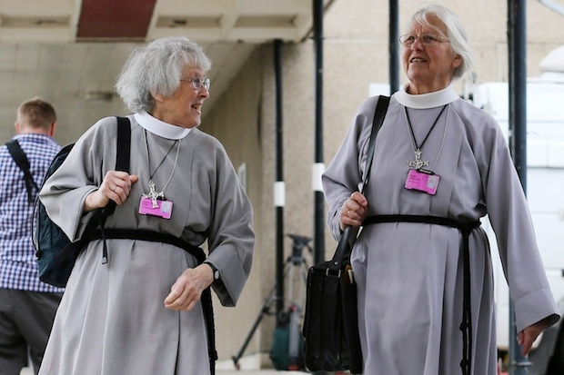 Members of the clergy arrive for the General Synod. Image: Getty