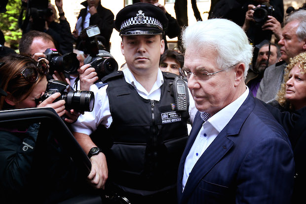 Max Clifford leaves Southwark Crown Court yesterday. Photo: Peter Macdiarmid/Getty Images