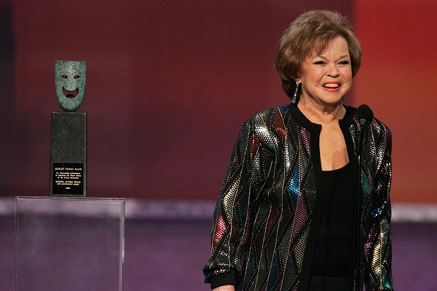The late Shirley Temple pictured in 2006 when accepting a life time achievement award at the Screen Actors' Guild Awards. (Photo by Kevin Winter/Getty Images)
