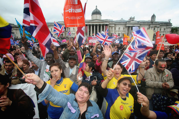 The UK's attitude towards Britishness and immigration has changed over the last 10 years. Photo: Matt Cardy/Getty Images