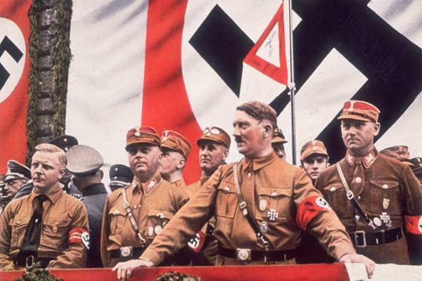 German Dictator, Adolf Hitler addressing a rally in Germany, circa 1939.  (Photo by Hulton Archive/Getty Images)