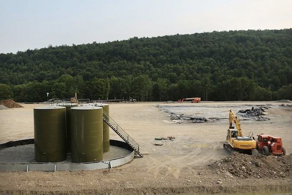 A fracking plant in America. Picture: Getty