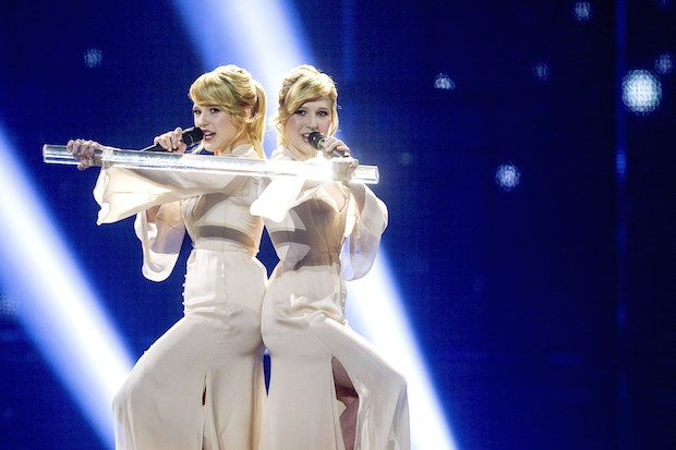 The Tolmachevy Sisters representing Russia at Eurovision 2014. Photo: Getty Images.
