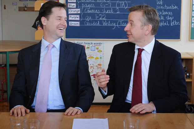Nick Clegg and Michael Gove in happier times. Photo: PA.