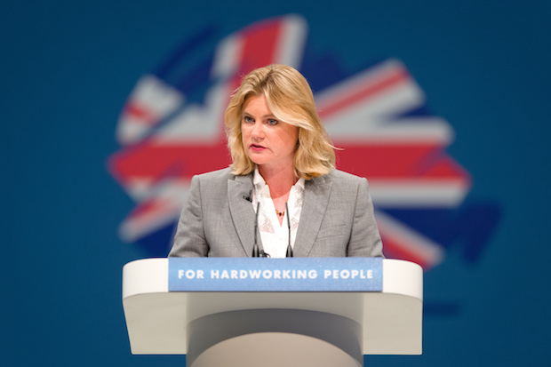 Minister for International Development Justine Greening addresses delegates on the first day of the Conservative Party Conference in Manchester on September 29, 2013. Photo: LEON NEAL/AFP/Getty Images