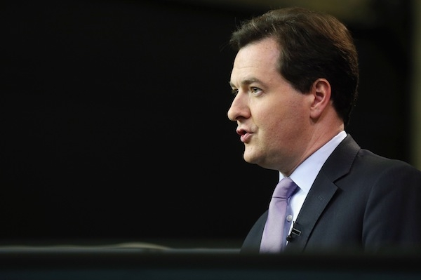 George Osborne speaks to Sky News as the Conservative party conference gets under way in Birmingham. Picture: Getty