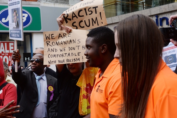 The Ukip 'carnival of colour' in Croydon today. Photo: Stefan Rousseau/PA Wire