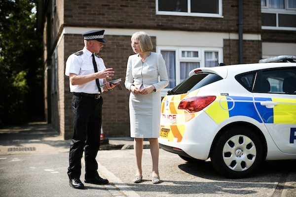 Theresa May Visit Hertfordshire After Results Show A Reduction In Crime In The UK