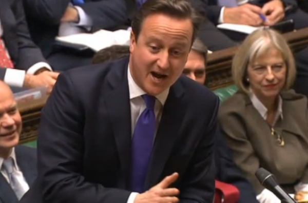 David Cameron answers the questions at PMQs.