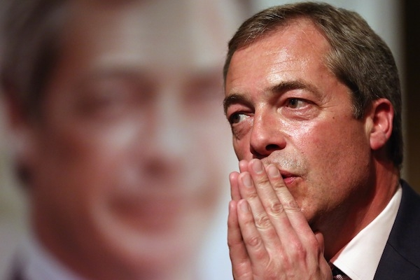 Nigel Farage is open to offers from Labour and Conservatives to stand as joint Ukip candidates. Photo: Getty Images.