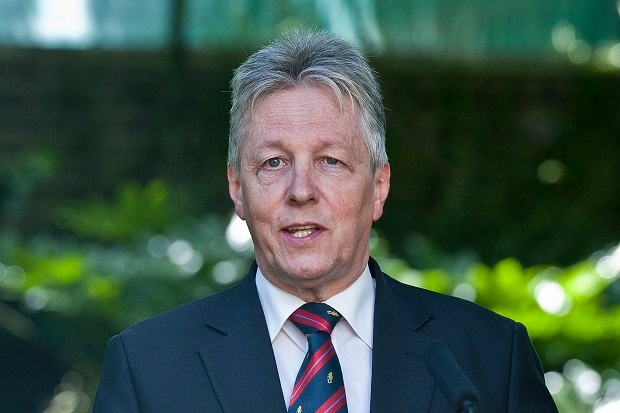 Peter Robinson deserves applause for his stance on religious expression. AFP PHOTO / POOL / WILL OLIVER