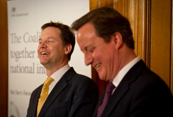 The Prime Minister And Deputy Prime Minister Announce Their Mid-Term Review