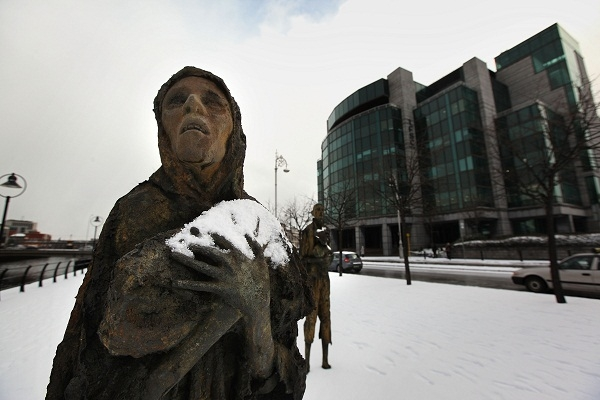 The Famine Memorial Structure in Dublin. Image: Getty