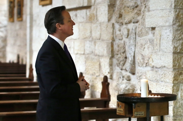 David Cameron should do more to stop the persecution of Christians. (Photo credit should read THOMAS COEX/AFP/Getty Images)