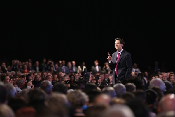 Miliband's speech has cleared him out of the IDS category. Photo: Getty Images.