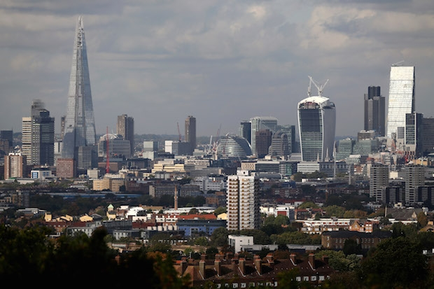 The UK's booming services economy is reflected in London's changing skyline. Image: Getty