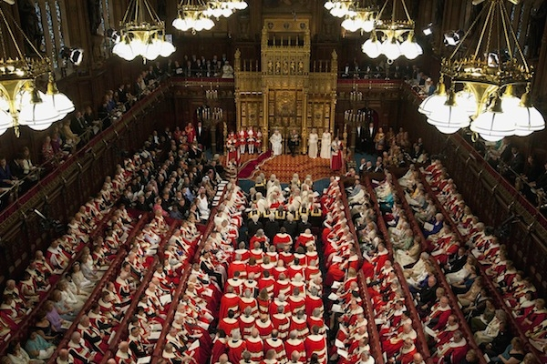 The House of Lords is beyond reproach, apparently. (ALASTAIR GRANT/AFP/GettyImages)