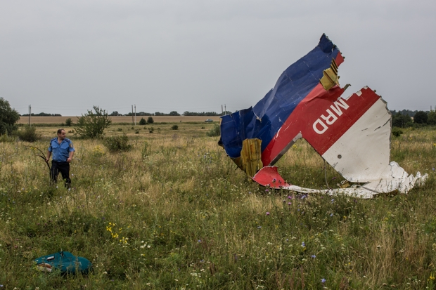 Remains from the Malaysia Airlines flight MH17 (Photo: Brendan Hoffman/Getty)