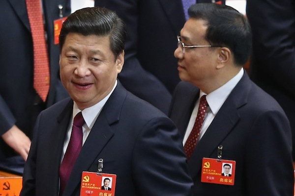 Chinese Vice President Xi Jinping (L) and Chinese Vice Premier Li Keqiang (R) attend the opening session of the 18th Communist Party Congress. Picture: Getty
