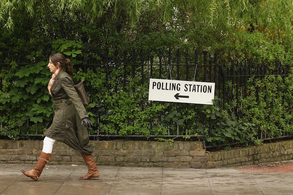 Current Mayor Of London Boris Johnson Casts His Vote In The London Mayoral Elections