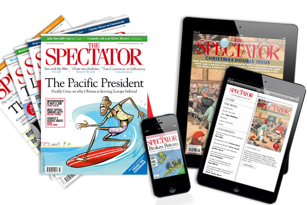 You can subscribe to The Spectator in print and digital from just £1 a week.
