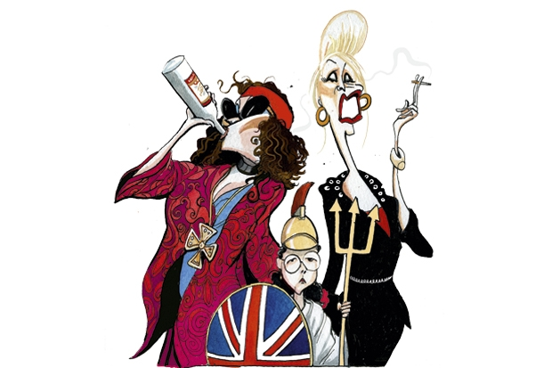 Boozy, druggy adults. Sober, serious kids. Welcome to Ab Fab Britain