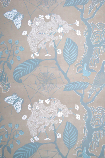 I never thought I'd write about wallpaper. But I'd never seen wallpaper like Marthe Armitage's