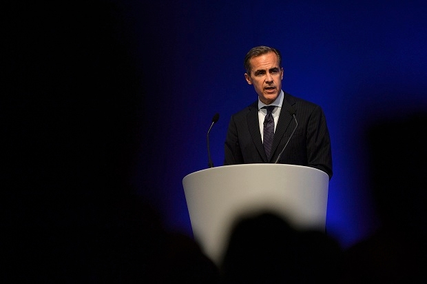Mark Carney giving his first public speech last week.