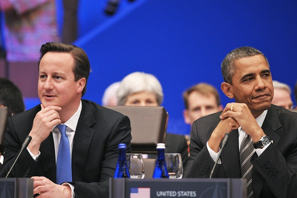 Downing Street's finest insist that Barack is copying Dave. Image: Getty