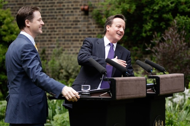 David Cameron & Nick Clegg Hold Their First Joint News Conference