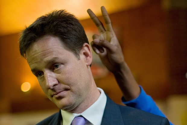 Nick Clegg and a young person. Image: Getty