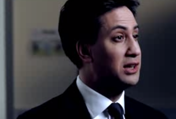 Ed Miliband talks immigration in a party political broadcast.
