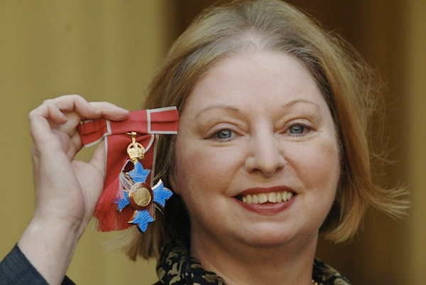 British writer Hilary Mantel is pictured