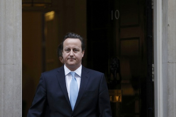 David Cameron met Conservative MPs campaigning for an EU referendum today ahead of his speech. Picture: Getty