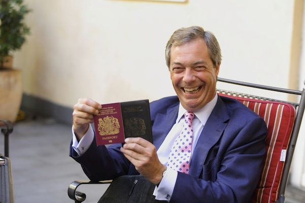 Nigel Farage made the case for leaving the EU. Image: Getty