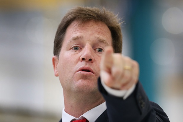 Nick Clegg Gives A Speech On Britain In Europe