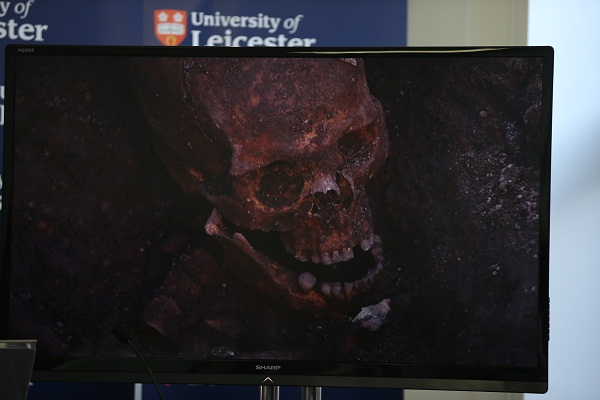 The skull of King Richard III. Image: Getty