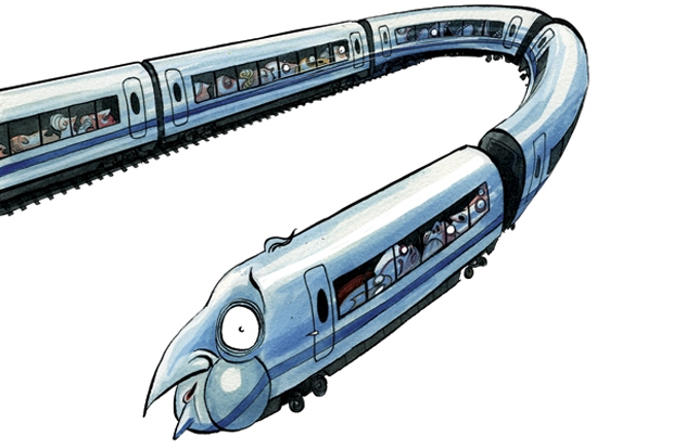 Will political dithering lead to a u-turn on HS2? Illustration: Morten Morland.