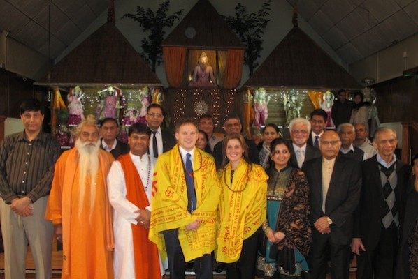Grants Shapps launches the Tory campaign in Harrow West in a Hindu Temple